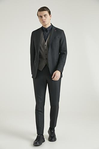 Twn Slim Fit Haki Düz Kombinli Takım Elbise - 8682060647221 | D'S Damat