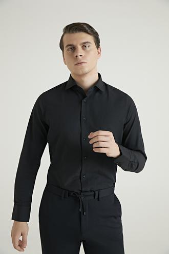 Ds Damat Slim Fit Siyah Gömlek - 8682060811660   D'S Damat
