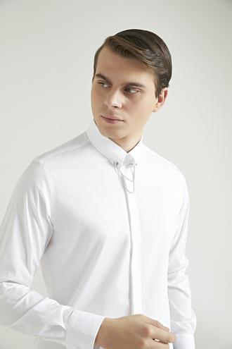 Slim Fit Beyaz Düz - 8682060910905   D'S Damat