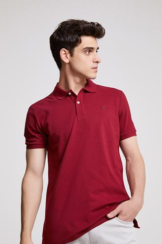 Ds Damat Regular Fit Bordo T-shirt - 8682060786715 | D'S Damat
