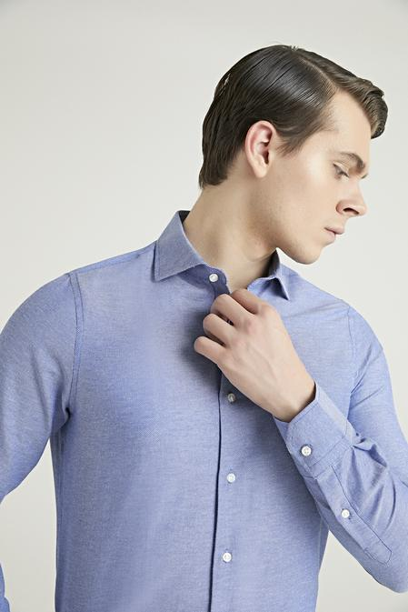 Ds Damat Slim Fit Mavi Gömlek - 8681779951629   D'S Damat