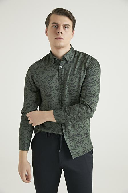 Twn Slim Fit Yeşil Gömlek - 8682060733849   D'S Damat