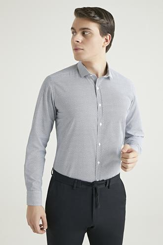 Twn Slim Fit Siyah Baskılı Gömlek - 8682060802835 | D'S Damat