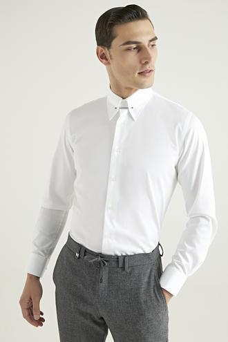 Damat Slim Fit Beyaz Gömlek - 8682364399895 | Damat Tween