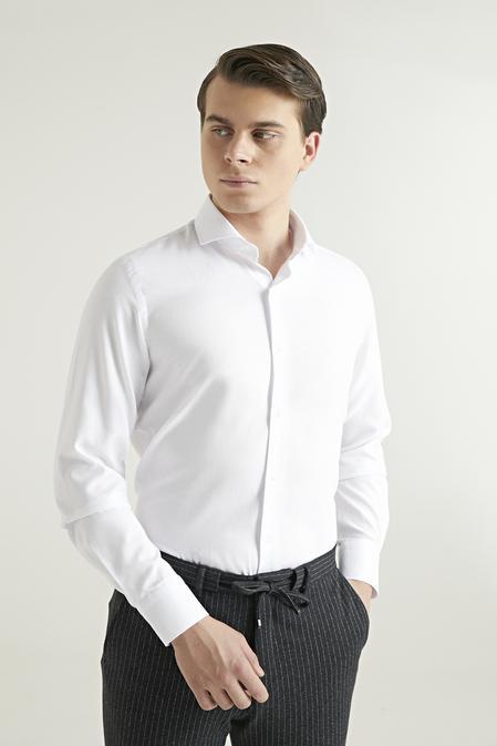 Ds Damat Slim Fit Beyaz Gömlek - 8681779951650 | D'S Damat