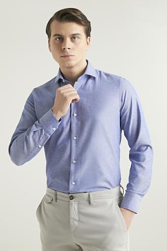 Ds Damat Slim Fit Mavi Gömlek - 8681779952145 | D'S Damat