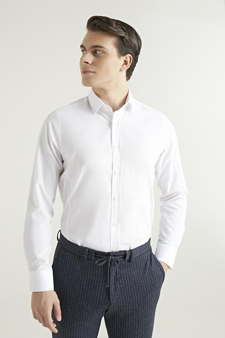 Ds Damat Slim Fit Beyaz Gömlek - 8682060463401   D'S Damat