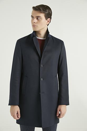 Ds Damat Regular Fit Lacivert Palto - 8682060520869 | D'S Damat