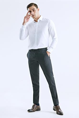Damat Slim Fit Antrasit Kumaş Pantolon - 8682364427383 | Damat Tween