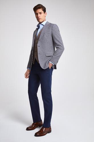 Ds Damat Slim Fit Lacivert Kareli Kombinli Takım Elbise - 8682445266559 | D'S Damat