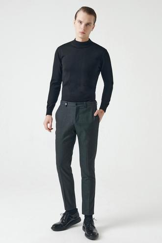 Tween Slim Fit Antrasit Kumaş Pantolon - 8682364363131 | Damat Tween