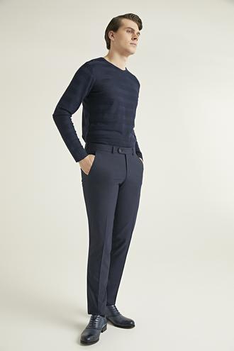 Ds Damat Slim Fit Lacivert Kumaş Pantolon - 8682060578747 | D'S Damat