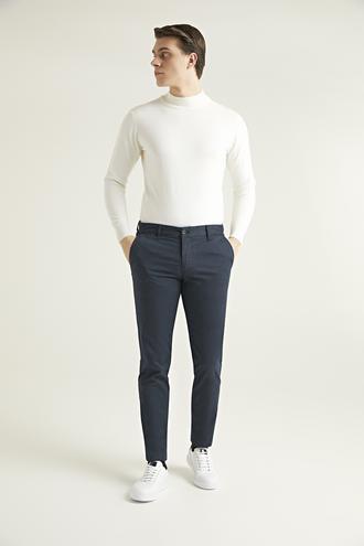 Ds Damat Slim Fit Lacivert Chino Pantolon - 8682060578679   D'S Damat