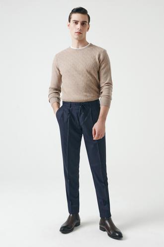 Damat Slim Fit Lacivert Kumaş Pantolon - 8682364353224 | Damat Tween