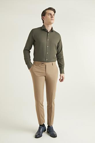 Twn Slim Fit Camel Düz Kumaş Pantolon - 8682060873521 | D'S Damat