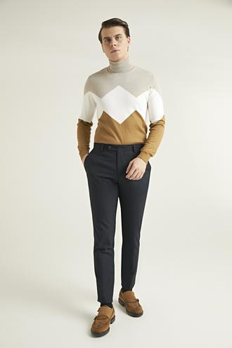 Twn Slim Fit Lacivert Düz Kumaş Pantolon - 8682060873200   D'S Damat