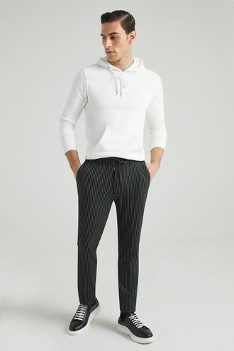 Tween Slim Fit Siyah Çizgili Jogger Pantolon - 8682364446735 | Damat Tween