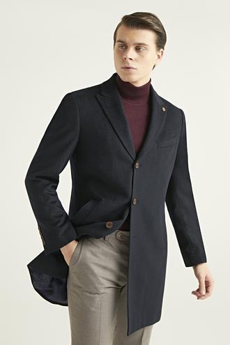 Ds Damat Slim Fit Lacivert Palto - 8682060891723 | D'S Damat