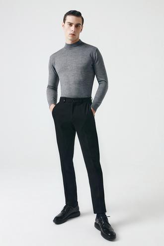 Tween Slim Fit Siyah Kumaş Pantolon - 8682364434572   Damat Tween