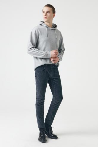 Tween Slim Fit Gri Chino Pantolon - 8682364471683   Damat Tween
