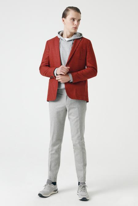Tween Slim Fit Kiremit Düz Kumaş Ceket - 8681649653127   Damat Tween