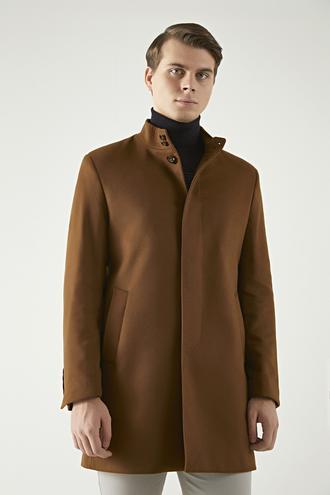Twn Slim Fit Camel Palto - 8682060537003 | D'S Damat