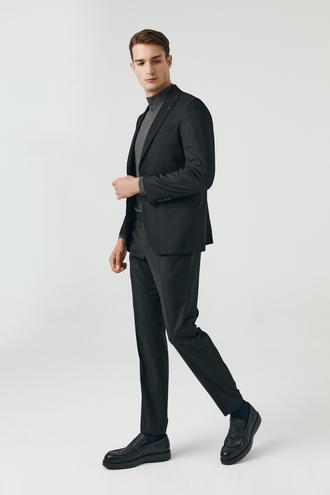 Ds Damat Slim Fit Siyah Düz Takım Elbise - 8682060660718 | D'S Damat