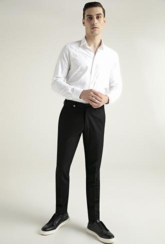 Tween Slim Fit Siyah Kumaş Pantolon - 8682364434794 | Damat Tween