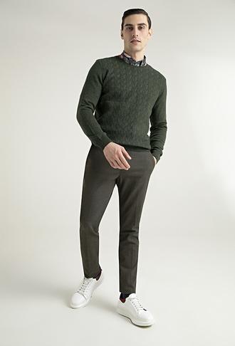 Tween Slim Fit Haki Chino Pantolon - 8681649849476 | Damat Tween