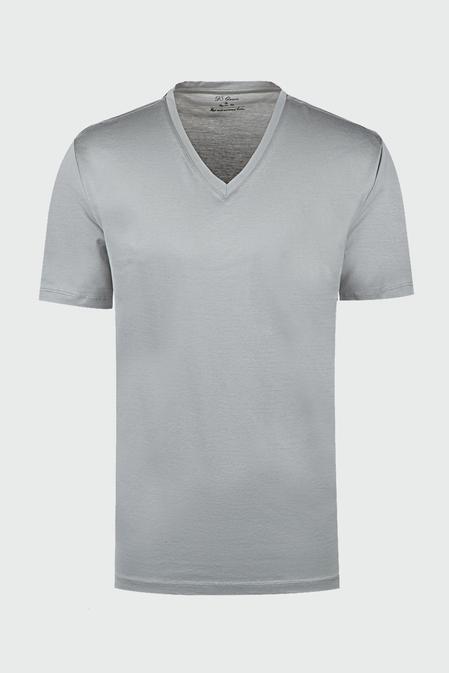 Ds Damat Regular Fit Gri T-shirt - 8681779321040 | D'S Damat