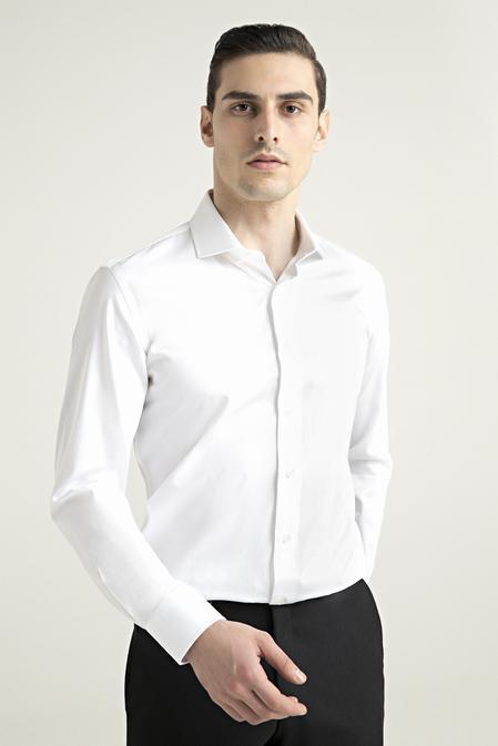 Damat Slim Fit Beyaz Nano Care Gömlek - 8682364508785 | Damat Tween