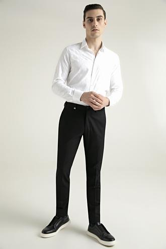 Tween Slim Fit Siyah Kumaş Pantolon - 8682364363032 | Damat Tween