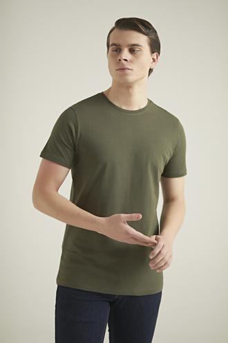 Ds Damat Slim Fit Haki T-shirt - 8682445085907   D'S Damat