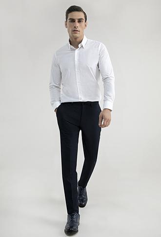 Tween Slim Fit Lacivert Kumaş Pantolon - 8682364363056 | Damat Tween