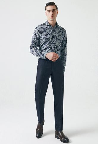 Damat Slim Fit Lacivert Kumaş Pantolon - 8682364465767   Damat Tween