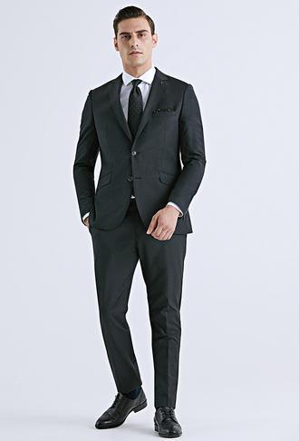 Tween Slim Fit Antrasit Düz Takım Elbise - 8682364389162 | Damat Tween
