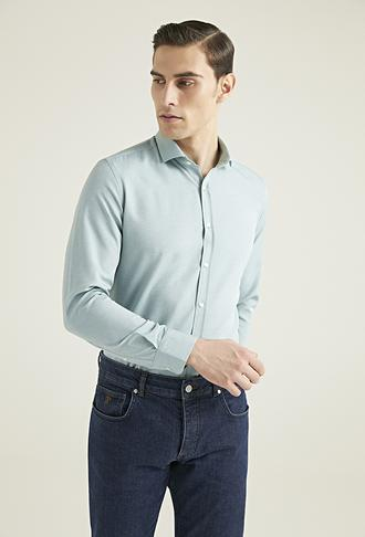 Twn Slim Fit Yeşil Oxford Gömlek - 8682445168594 | D'S Damat