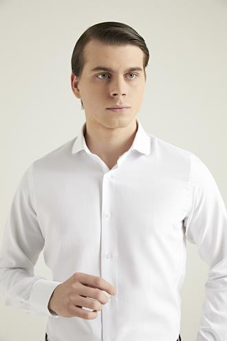Ds Damat Slim Fit Beyaz Gömlek - 8681779952190 | D'S Damat