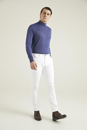 Twn Slim Fit Beyaz Armürlü Chino Pantolon - 8682060812278 | D'S Damat