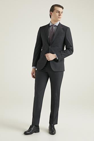 Ds Damat Slim Fit Antrasit Düz Takım Elbise - 8681779725183   D'S Damat