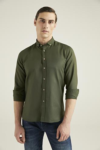 Twn Slim Fit Yeşil Oxford Gömlek - 8682060835420   D'S Damat
