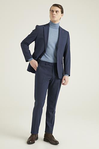 Ds Damat Slim Fit Lacivert Çizgili Takım Elbise - 8682060898111 | D'S Damat