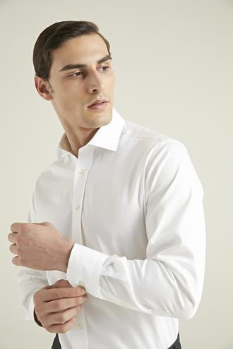 Ds Damat Regular Fit Beyaz Düz Gömlek - 8682445211436 | D'S Damat
