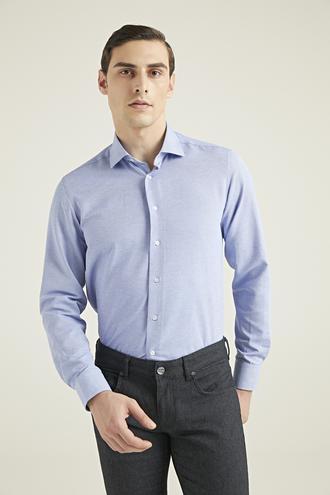 Ds Damat Regular Fit Mavi Gömlek - 8682445026191 | D'S Damat