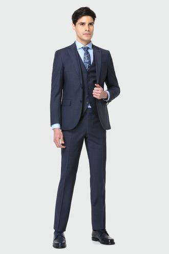 Ds Damat Slim Fit Lacivert Yelekli Takım Elbise - 8682060579102 | D'S Damat