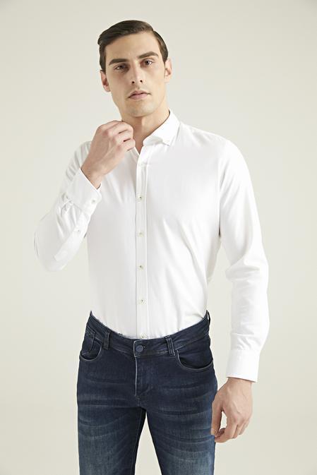 Ds Damat Regular Fit Beyaz Oxford Gömlek - 8682445128147 | D'S Damat