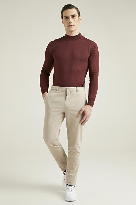 Damat Slim Fit Bej Chino Pantolon - 8682364827275 | Damat Tween