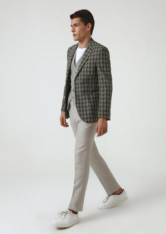 Ds Damat Slim Fit Yeşil Ekoseli Kombinli Takım Elbise - 8682060652560 | D'S Damat