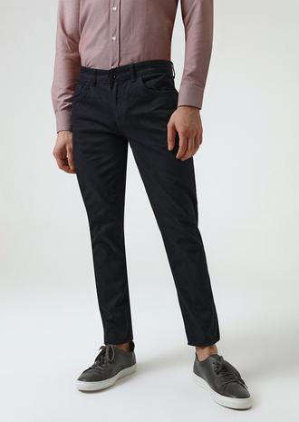Twn Slim Fit Lacivert Armürlü Chino Pantolon - 8682060742346 | D'S Damat