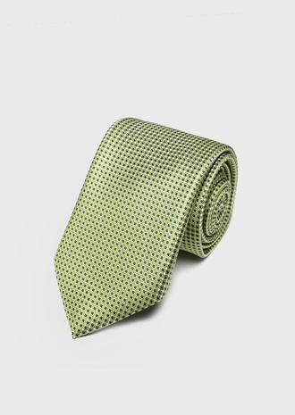 Ds Damat Yeşil Desenli Kravat - 8682445180022 | D'S Damat